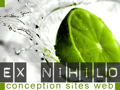 Creation de sites et gestion de projets internet Ex Nihilo animations